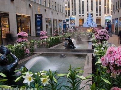 Channel Garden Fountains, Rockefeller Center