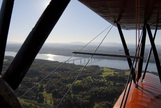 Biplane over Rhinebeck