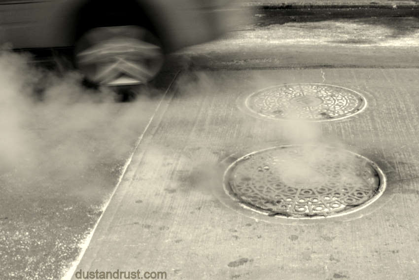 Steaming Manhole Cover, NYC