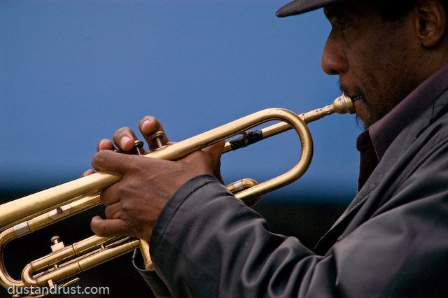 Trumpet Player at the South Street Seaport, NYC